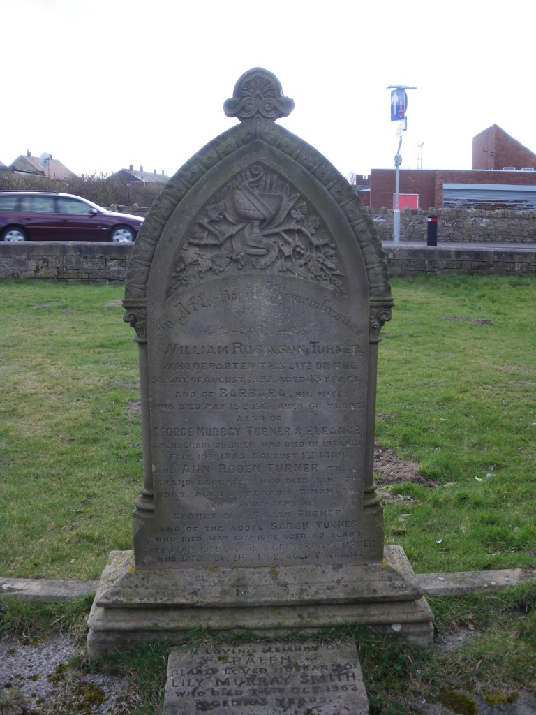 Turner family plot in Amble East Cemetery